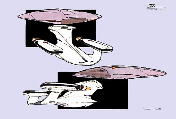 After designing the Enterprise, it was explained that the saucer would separate, and I was challenged to make both elements look good apart AND together.