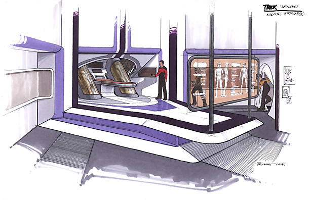 "Early concept of the lab where Data was assembled (born) from the episode: ""Datalore""."